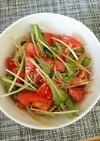 ピリ辛トマトと水菜の春雨サラダ