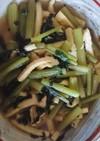 フキの胡麻油炒め♥️葉っぱも煮浸し