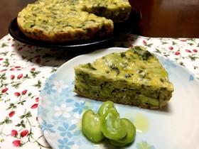 フライパンで簡単*春野菜のケークサレ