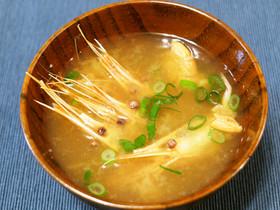 海老(北海しまえび)の味噌汁