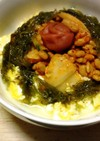 糖質制限✨定番「豆腐と卵でキムチ納豆丼」