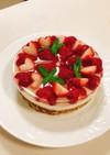 水抜きヨーグルトde苺のムースケーキ