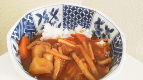 15分de煮物でリメイク美味ハヤシライス