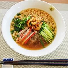 和風アレンジのふるる冷麺