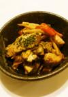 ぶりと野菜のオイマヨ炒め