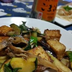 ごま油と香味野菜で作る甘辛野菜炒め