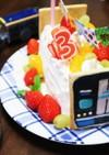 お誕生日の電車ケーキ