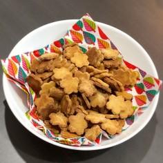 小腹対策!粉ミルクの堅焼き一口クッキー