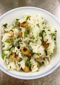 簡単爽やか☆大豆とカブの炊込みご飯