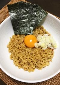 インスタント麺で♬やみつきピリ辛油そば