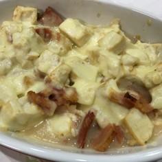 材料3つ★豆腐とベーコンのチーズ焼き