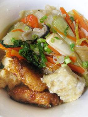 鶏から&揚げ豆腐★さっぱりおろし煮浸し