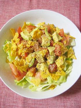 白菜の葉で★コブサラダ