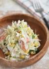 キャベツとカニかまのコールスローサラダ