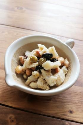 常備菜☺️蓮根とお豆の甘酢胡麻和え