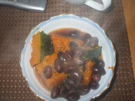 かぼちゃと黒豆の煮物