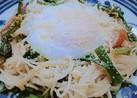 あぶら菜(菜の花)の素麺チャンプルー