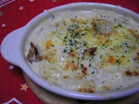 ホタテと白菜のクリームチーズ焼き