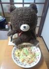 天ぷらの残りと炒めたウインナー野菜いため