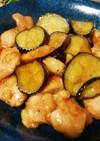 鶏もも肉と茄子のさっぱりぽん酢の照り焼き