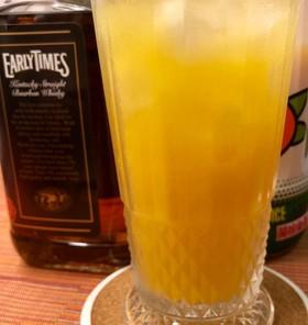 ウイスキーのオレンジ割
