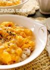 朝食に!ふわトロ卵のオムライス丼♡
