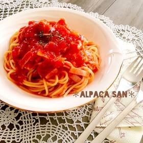 トマト缶で時短*冷製トマトスパゲティ♡