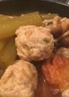 ふきと山椒やわらかつくねの煮物