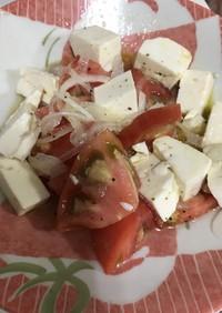 豆腐とトマトのサラダ