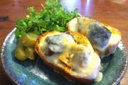 〆鯖チーズトーストの写真