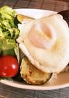 冷凍保存ハンバーグの簡単ロコモコ丼