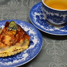 クルミ&ブルーチーズのチーズケーキ