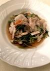 ヘルシオで簡単★豚しゃぶ肉と水菜蒸し