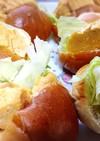 甘くない♪厚焼き玉子のサンドイッチ