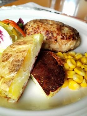 潰しポテトのチーズ焼き
