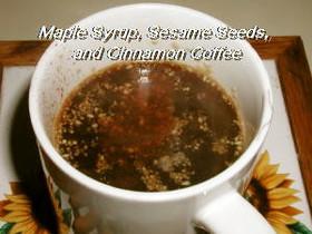 メープルゴマシナモンコーヒー