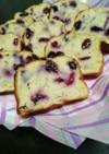 完熟バナナとブルーベリーのパウンドケーキ