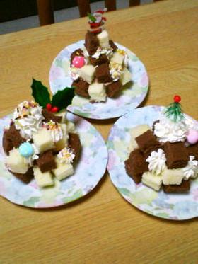クリスマスツリー(みたいな)ケーキ