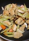 鶏胸肉とセロリの炒めもの