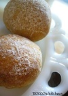 自家製酵母で作る 全粒粉の丸パン
