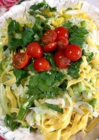 春野菜と   タリアテッレ