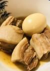 豚肉ブロック☆豚の角煮のゆで卵添え