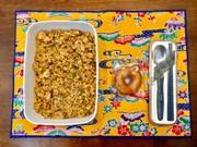 高校球児の夏バテ予防に♡ラー油で炒飯弁当の写真