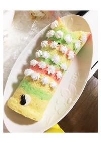 ふわふわ☆レインボーロールケーキ