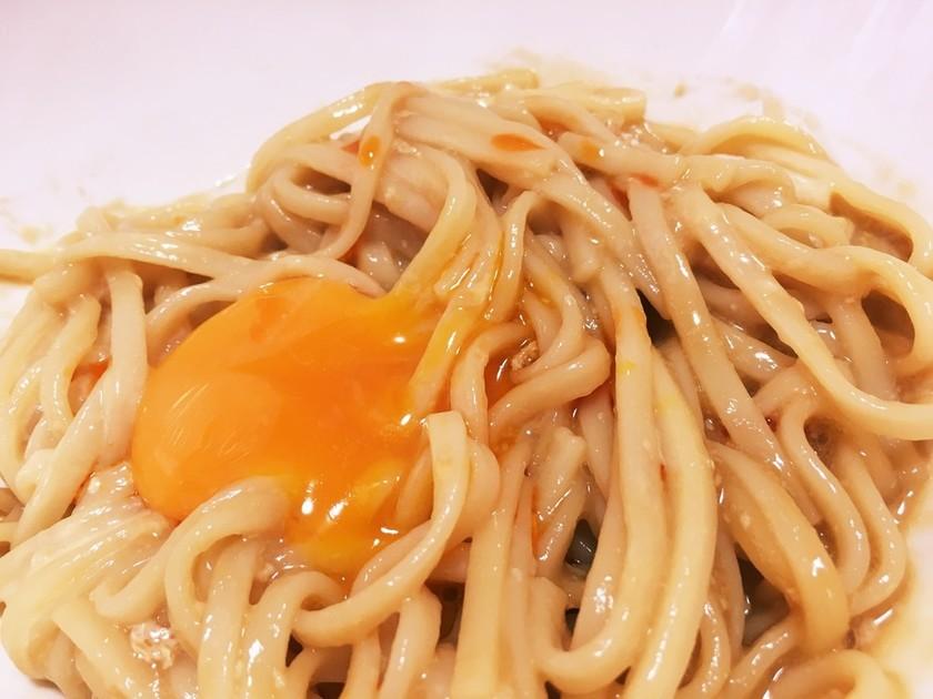 簡単旨々♡ラー油マヨうどん(そうめん)