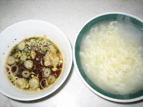 サッポロ一番艶うどんでツナのつけ麺