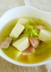 キャベツと豆腐のおなかに優しいスープ