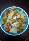 ふきとタケノコの煮物