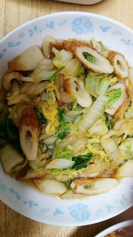 竹輪と白菜の煮浸し