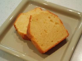 微かにカラメル味なパウンドケーキ(^^♪